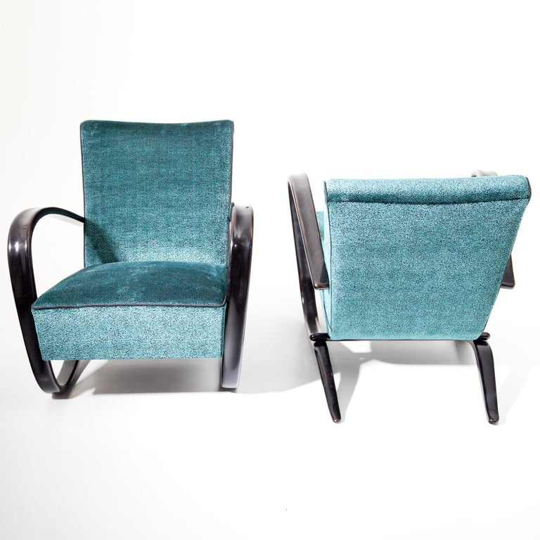 Lounge Chairs by J. Halabala, Czech Republic, 1930s For Sale 1