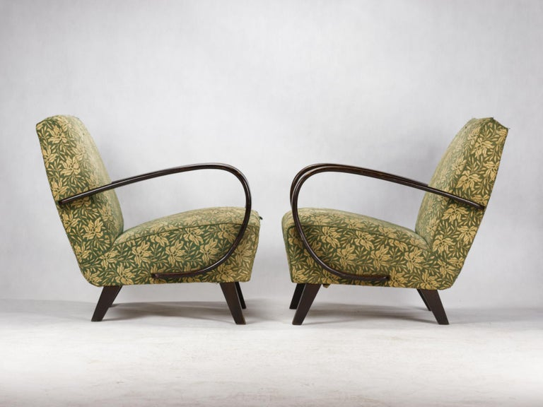 Lounge Chairs by Jindrich Halabala for UP Zavody Brno, 1930s In Good Condition For Sale In Lucenec, SK