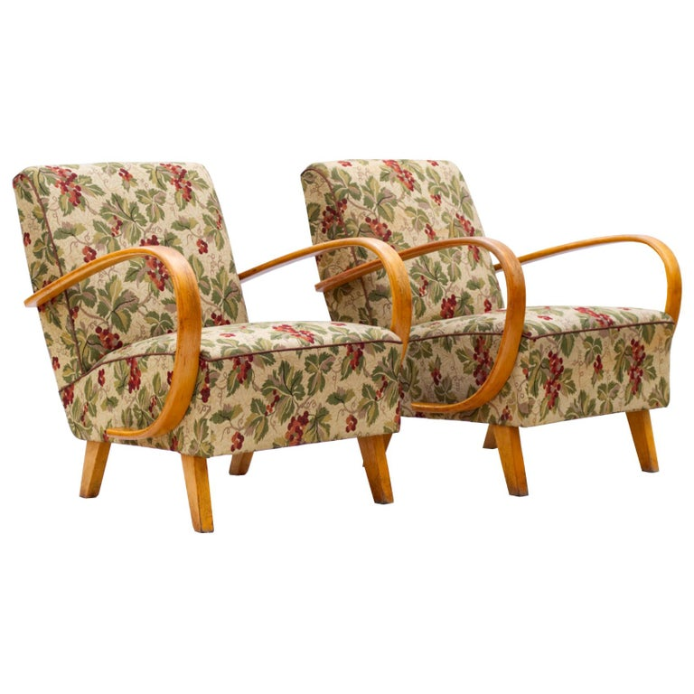 Lounge Chairs by Jindrich Halabala for Up Zavody Brno, 1930s For Sale