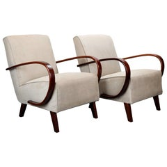 Lounge Chairs by Jindrich Halabala for UP Zavody Brno, 1930s