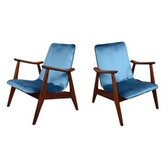 Lounge Chairs by Louis Van Teeffelen, Netherlands, circa 1960