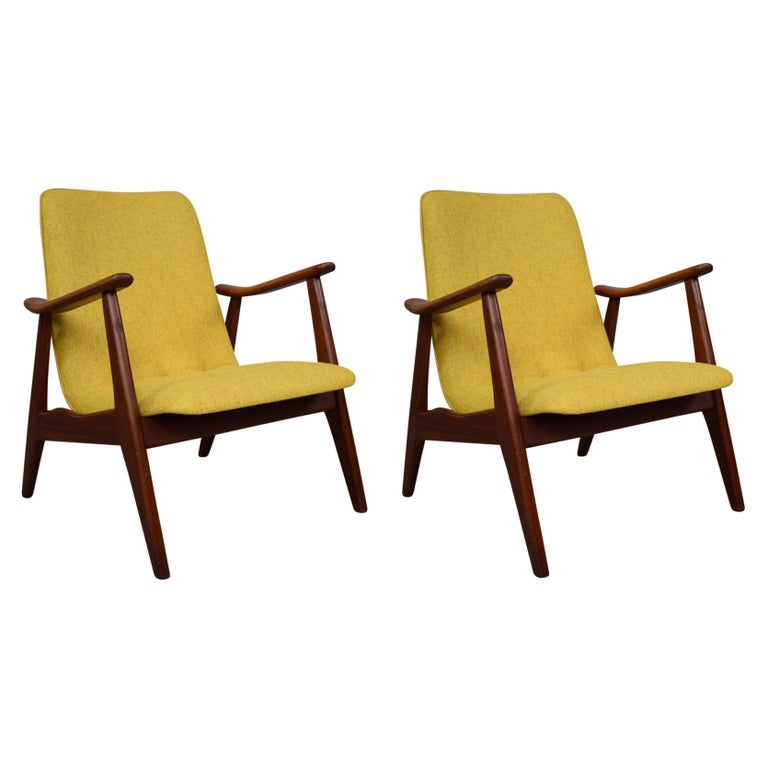 Lounge Chairs by Louis Van Teeffelen, Netherlands, circa 1960