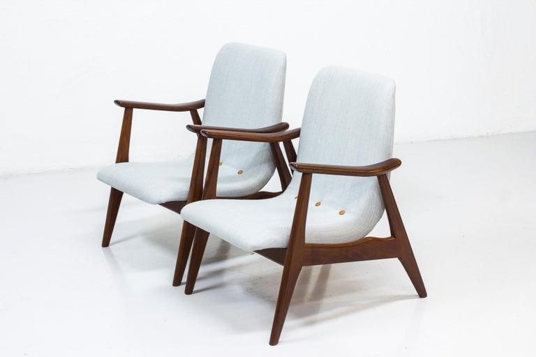 Lounge Chairs by Louis Van Teeffelen for WéBé, Netherlands, 1950s For Sale 6