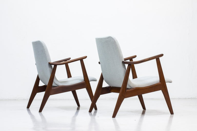 Modern Lounge Chairs by Louis Van Teeffelen for WéBé, Netherlands, 1950s For Sale