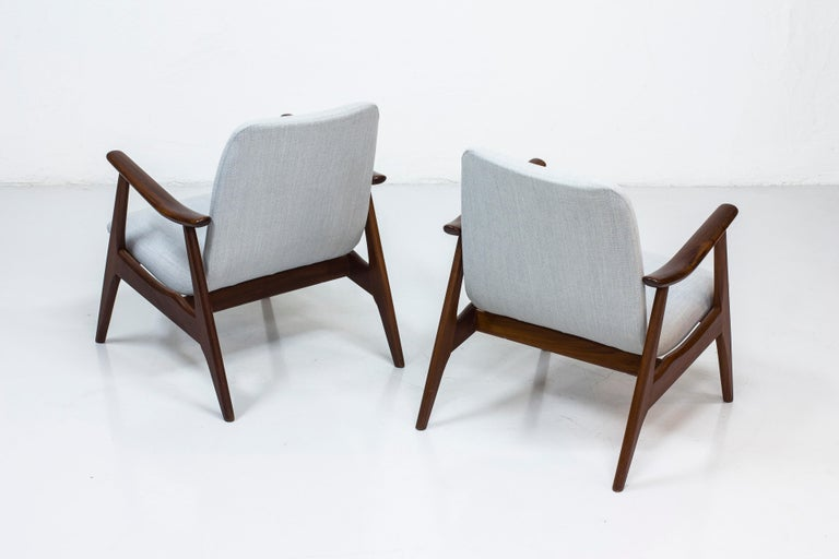 Lounge Chairs by Louis Van Teeffelen for WéBé, Netherlands, 1950s In Good Condition For Sale In Stockholm, SE