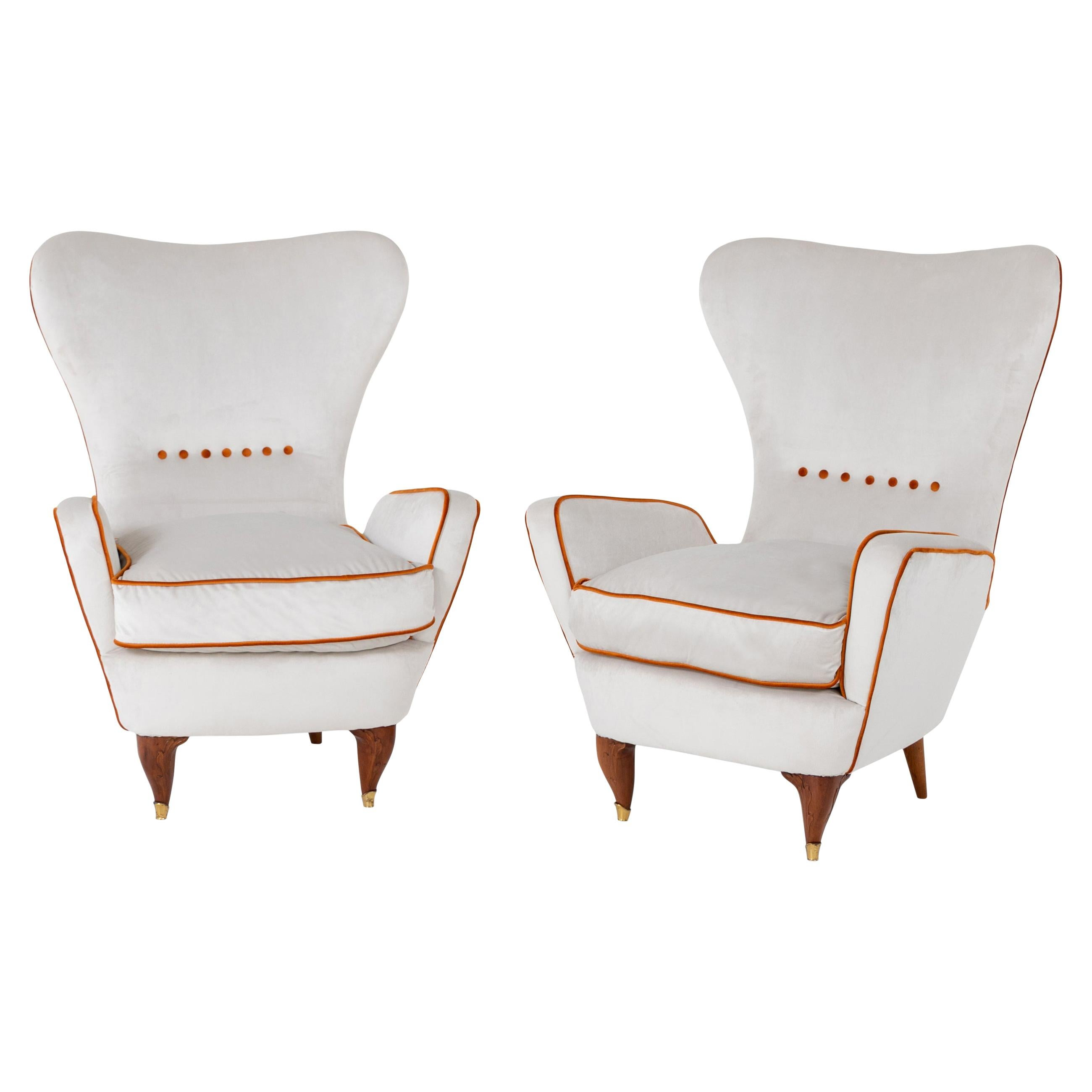 Lounge Chairs by Paolo Buffa, Italy, 1950s