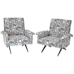 Lounge Stühle, Italien, Mitte des 20. Jahrhunderts