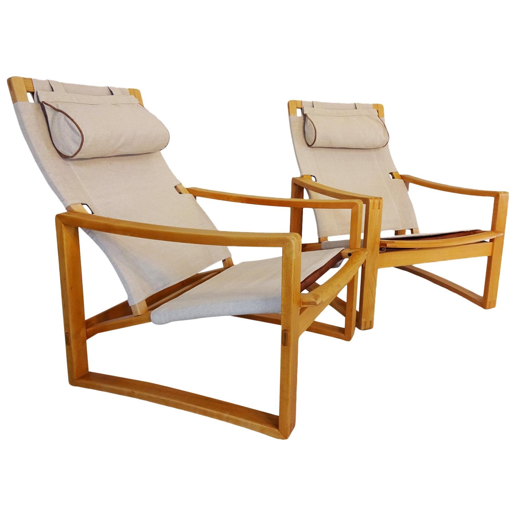 Lounge Chairs -  Safari style Danish Midcentury chairs by Børge Jensen & Sønner