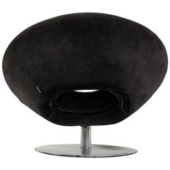 Lounge Contemporary Moon Swivel Chair Designed by M. Manzoni-R.Tapinassi, Italy