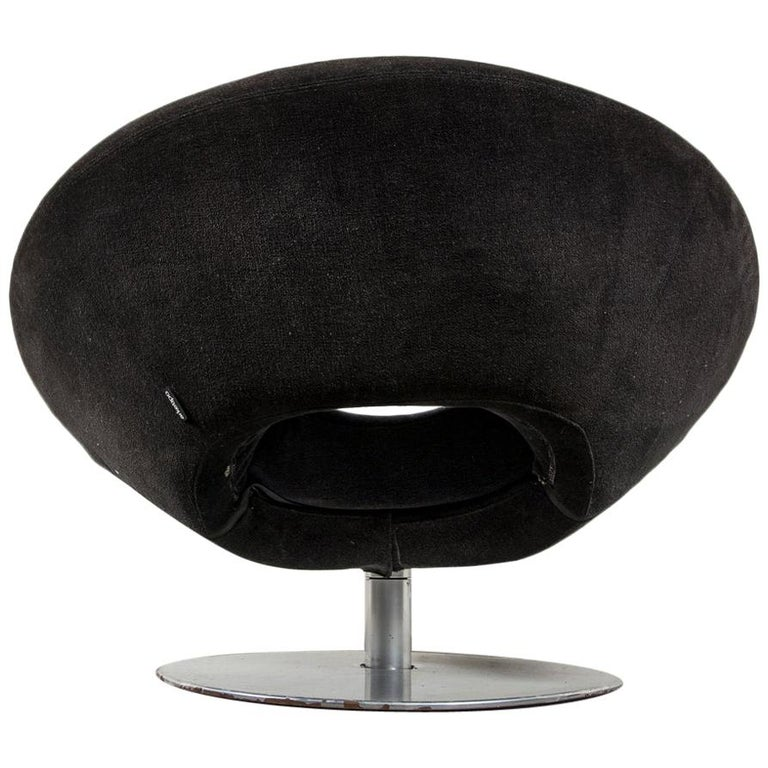 Lounge Contemporary Moon Swivel Chair Designed by M. Manzoni-R.Tapinassi, Italy For Sale