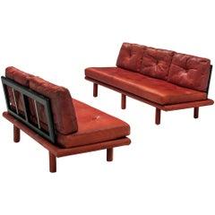 Leather Lounge Set by Franz Köttgen for Kill International