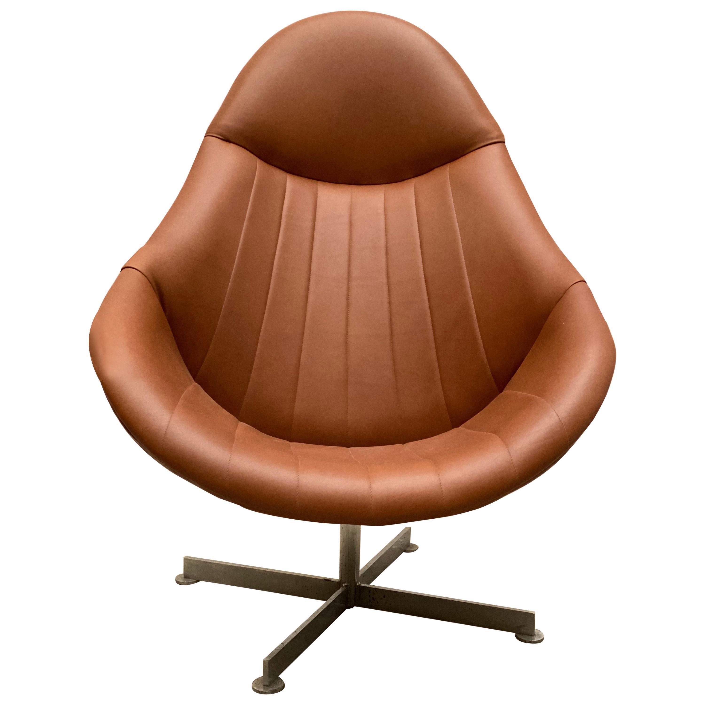 Lounge Swivel Chair, Dutch Design, 1960s by Rudolf Wolf for Rohé Noordwolde