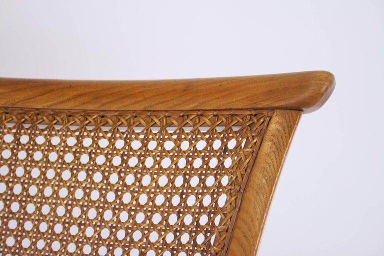 Lounge Chair or Armchair Wood Design Style Kagan Wickerwork Vienna Austria 1950s For Sale 4