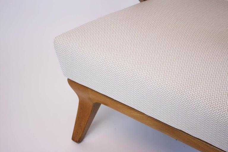 Austrian Lounge Chair or Armchair Wood Design Style Kagan Wickerwork Vienna Austria 1950s For Sale