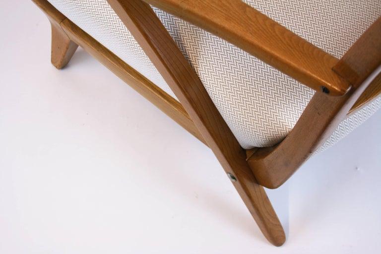 Lounge Chair or Armchair Wood Design Style Kagan Wickerwork Vienna Austria 1950s For Sale 1