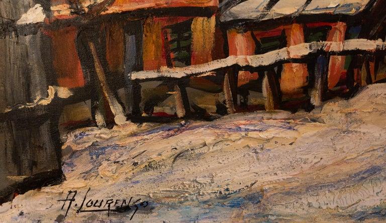 Lourenco Armand Oil on Canvas Montmartre, 1920 Le Lapin Agile For Sale 1