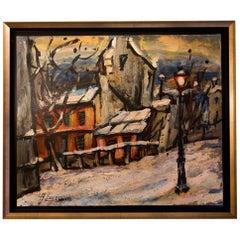 Lourenco Armand Oil on Canvas Montmartre, 1920 Le Lapin Agile