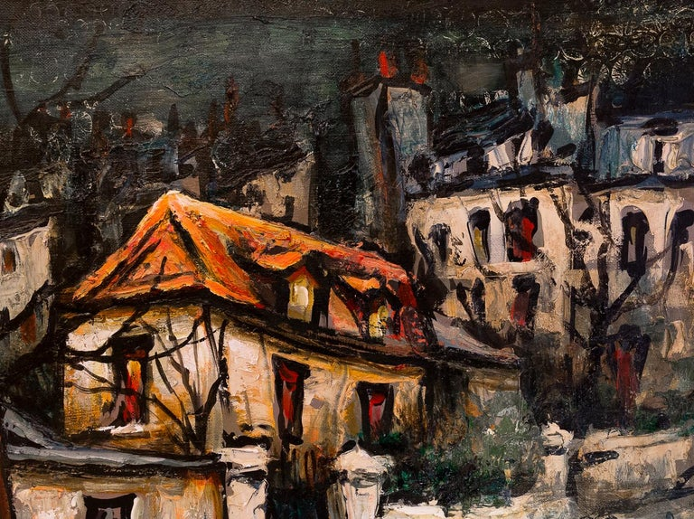 Lourenco Armand Oil on Canvas Montmartre, 1920 Picasso House For Sale 1