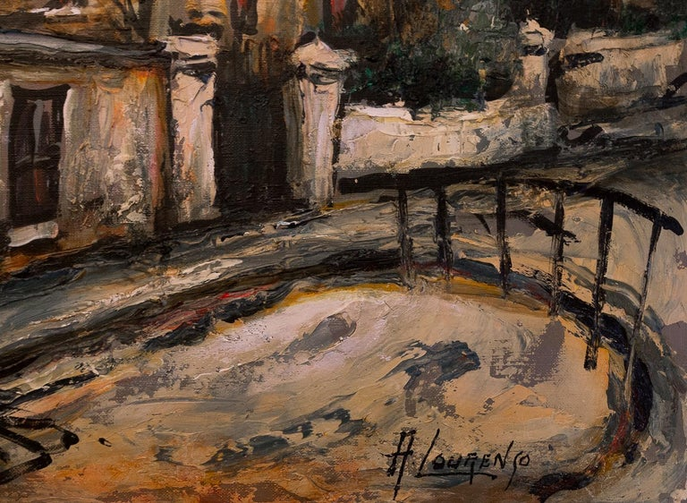 Lourenco Armand Oil on Canvas Montmartre, 1920 Picasso House For Sale 2