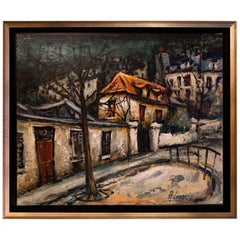 Lourenco Armand Oil on Canvas Montmartre, 1920 Picasso House