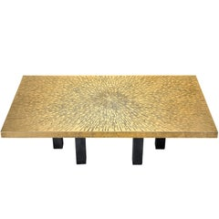 Lova Creation Etched Brass Coffee Table