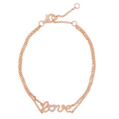 Love 18k Rose Gold and Diamonds Bracelet