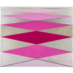 """Love"" 2012 Acrylic/Rose/ Geometric Modern on Canvas by Cecilia Setterdahl"