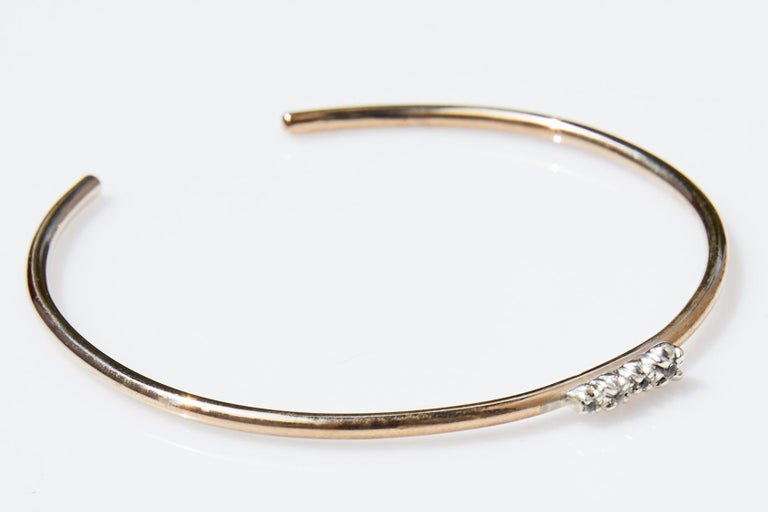 Love Bracelet Sapphires Arm Cuff Bracelet Bronze Silver J Dauphin  J DAUPHIN