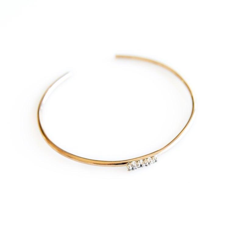 Love Bracelet Sapphires Arm Cuff Bracelet Bronze Silver J Dauphin For Sale 1