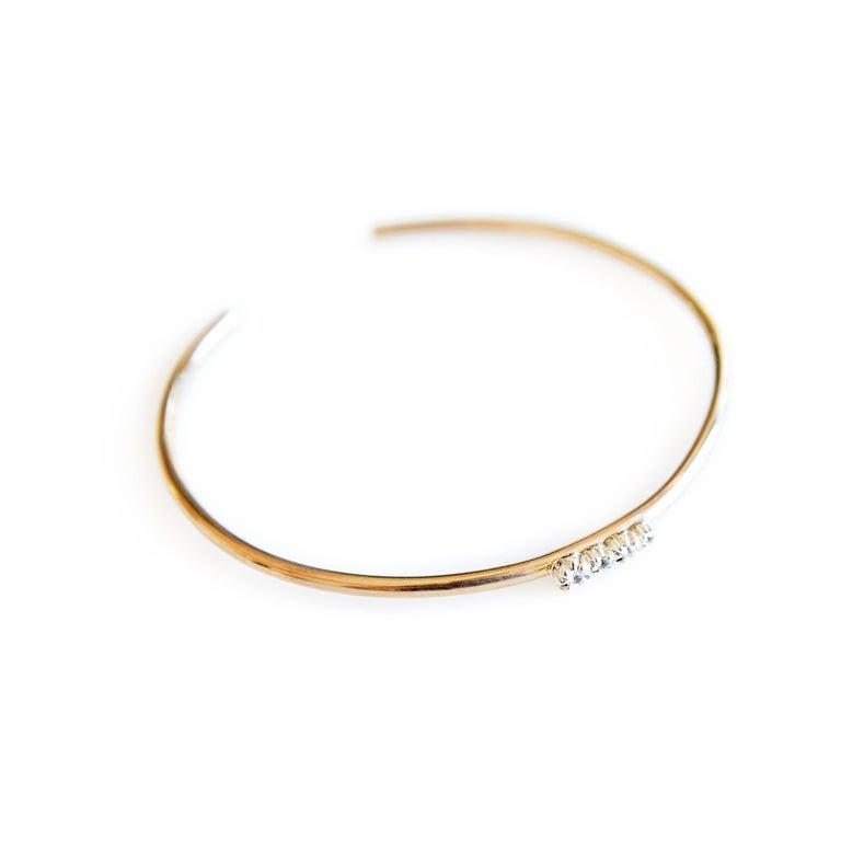 Love Bracelet Sapphires Arm Cuff Bracelet Bronze Silver J Dauphin For Sale 2