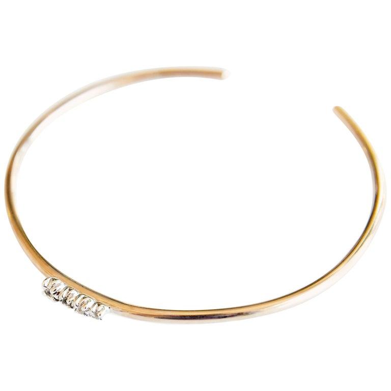 Love Bracelet Sapphires Arm Cuff Bracelet Bronze Silver J Dauphin For Sale