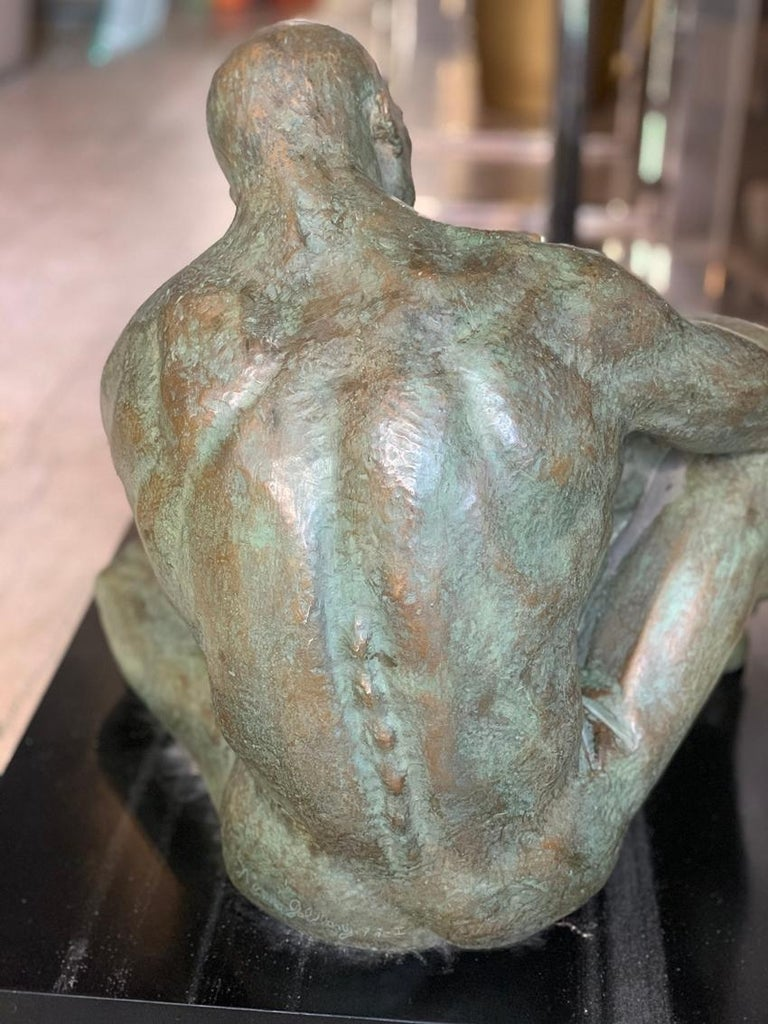 LOVE, Bronze Sculpture by Norma Goldberg Dated 1977 For Sale 9