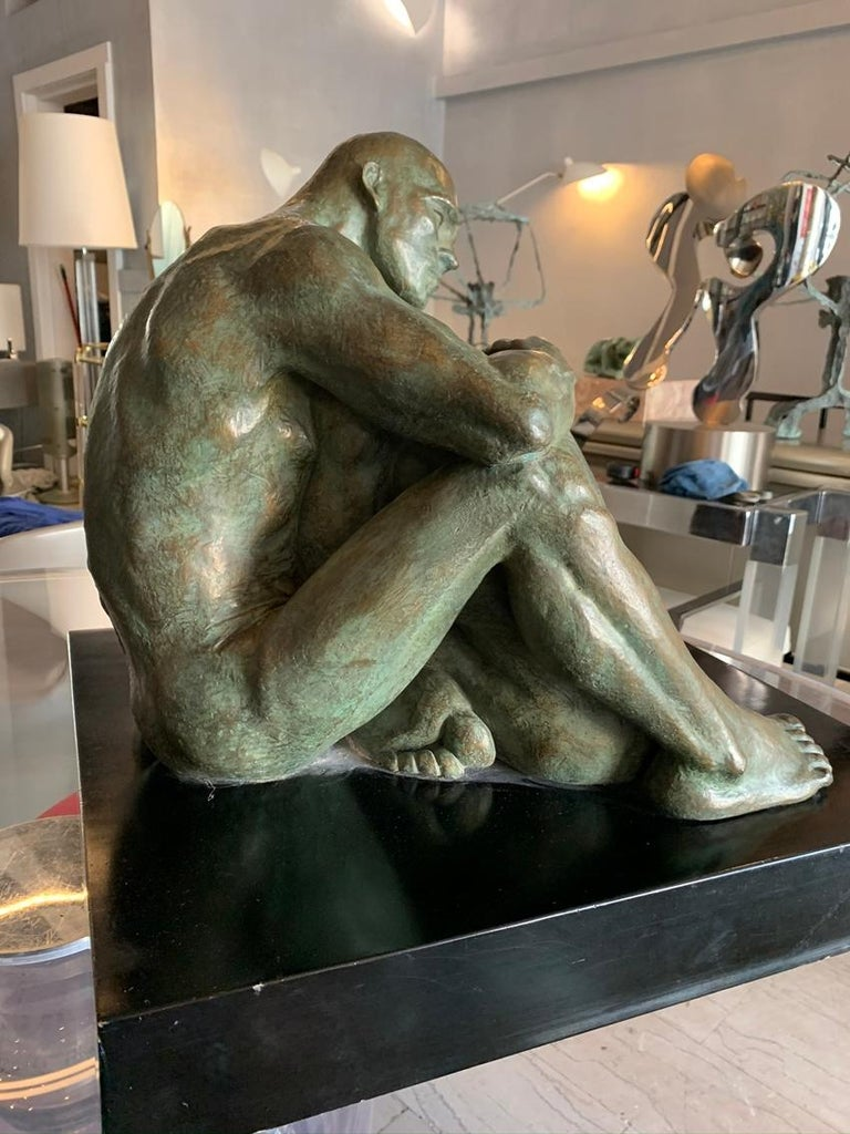 LOVE, Bronze Sculpture by Norma Goldberg Dated 1977 In Good Condition For Sale In Los Angeles, CA