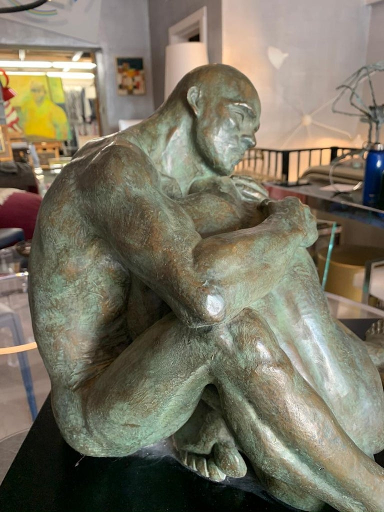 LOVE, Bronze Sculpture by Norma Goldberg Dated 1977 For Sale 1