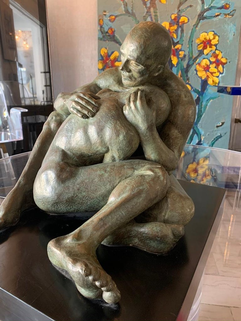 LOVE, Bronze Sculpture by Norma Goldberg Dated 1977 For Sale 3