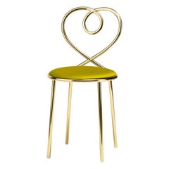 Love Chair in Anis with Polished Brass by Nika Zupanc