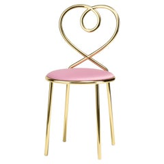 Love Chair in Ninfea with Polished Brass by Nika Zupanc