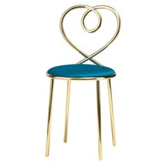 Love Chair in Ottanio with Polished Brass by Nika Zupanc