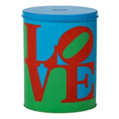 Love Coin Bank, after Robert Indiana, Red, Blue and Green