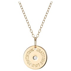 Minka, Gold Engraved Necklace With Diamond Option To Personalise