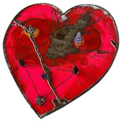 """Love in the Time of Covid"" by Timothy Poe Eglomise with Blown Glass, Cast Tin"