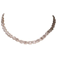 """Love Is a Moment in Time"" Morse Code Diamond Necklace 26.86 Carat"