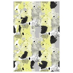 Love Leopard Wallpaper in Lemon by 17 Patterns
