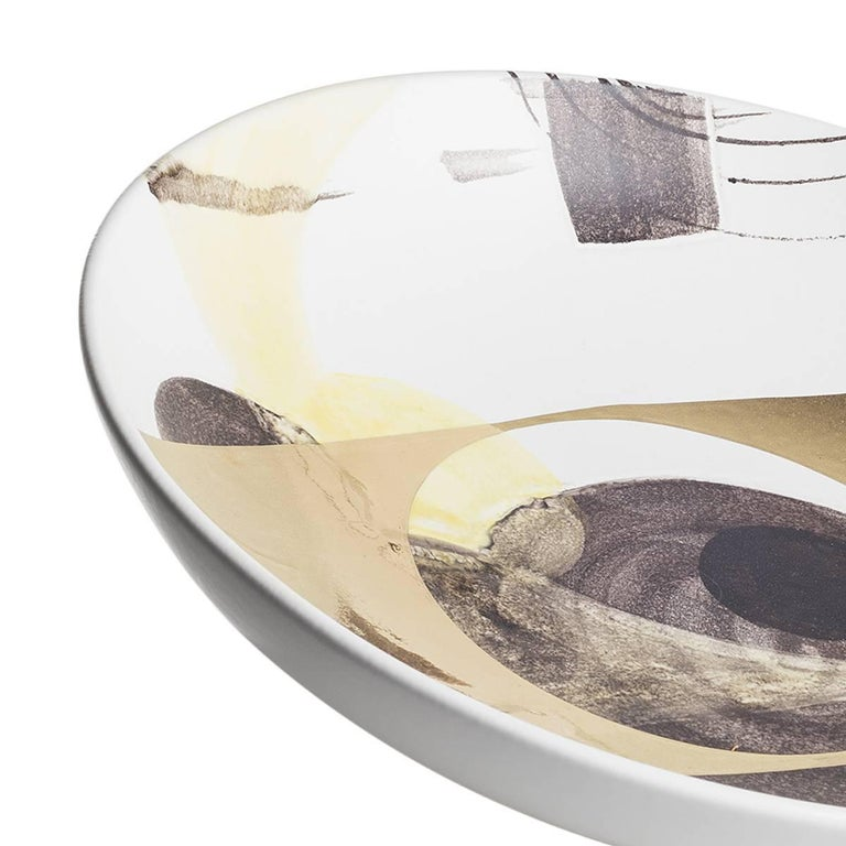 Italian Ceramic Centerpiece Plate, Love-Letters Collection For Sale