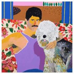 'Big Fuss' Portrait Painting by Alan Fears Pop Art Dog