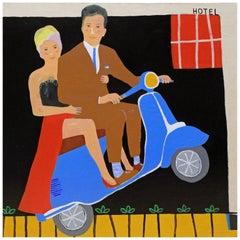 'Love Lift Us Up' Portrait Painting by Alan Fears Pop Art