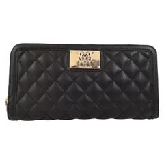 Love Moschino black leather wallet NWOT