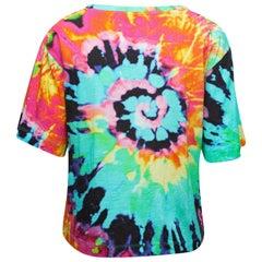 Love Moschino Green & Multicolor Tie-Dye T-Shirt