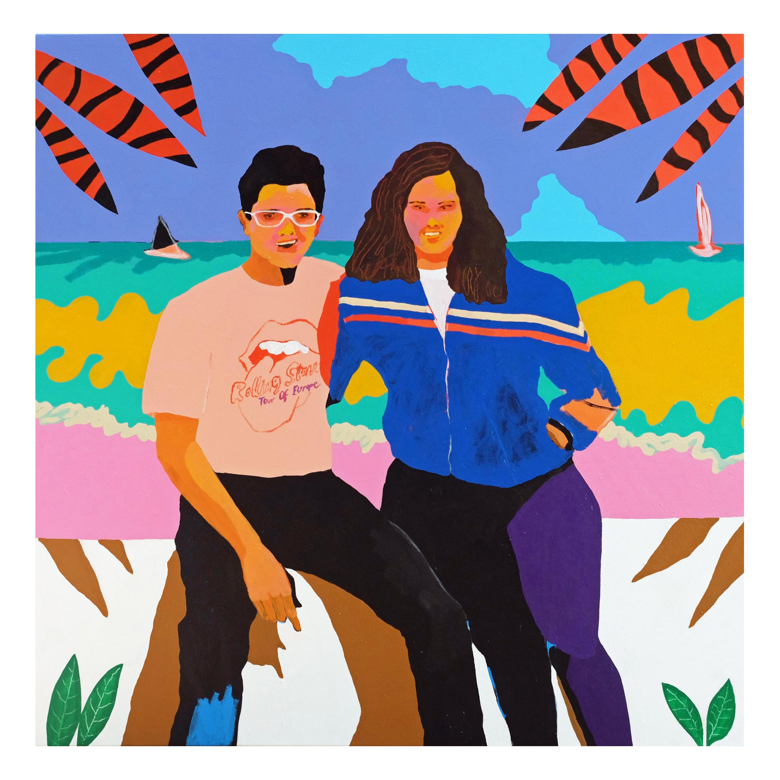 'Love on the Rocks' Portrait Painting by Alan Fears Pop Art Fashion