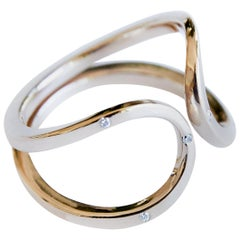 Love Ring Gold White Diamond Adjustable Cocktail Ring J Dauphin